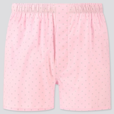Men Woven Printed Boxers, Pink, Medium