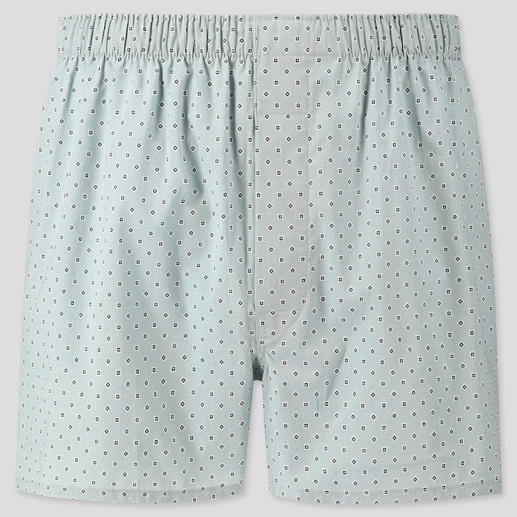 Men Woven Printed Boxers, Green, Large