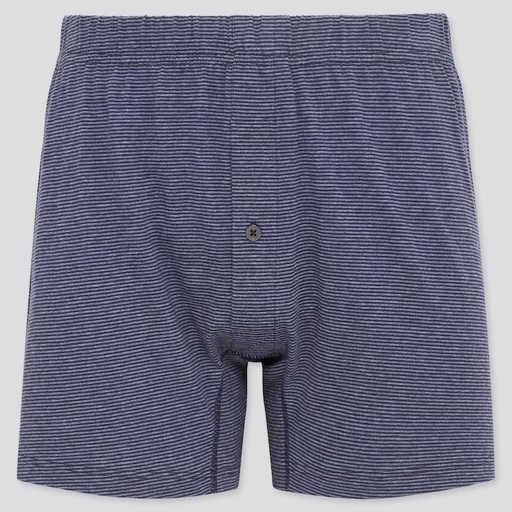 Men Knit Boxers, Blue, Large