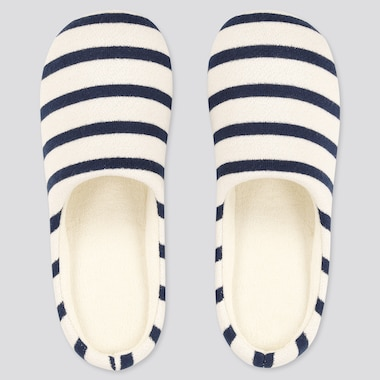 Striped Slippers, Natural, Medium