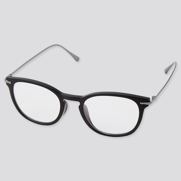Boston Combination Clear Sunglasses, Dark Gray, Large