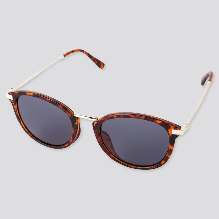 Metal Combination Sunglasses, Brown, Large