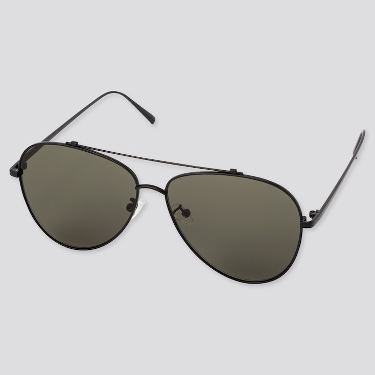 Teardrop Sunglasses, Dark Gray, Large