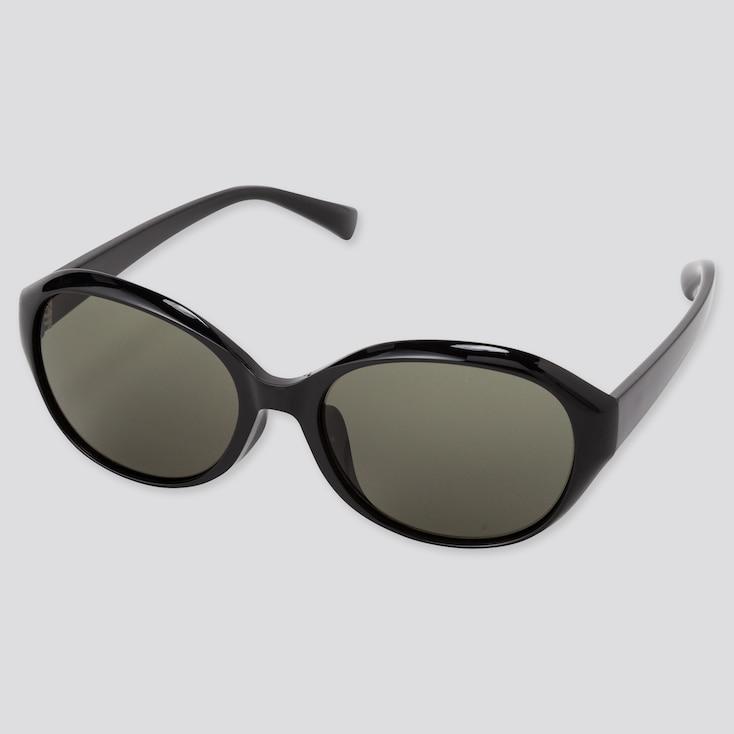 Oval Sunglasses, Black, Large