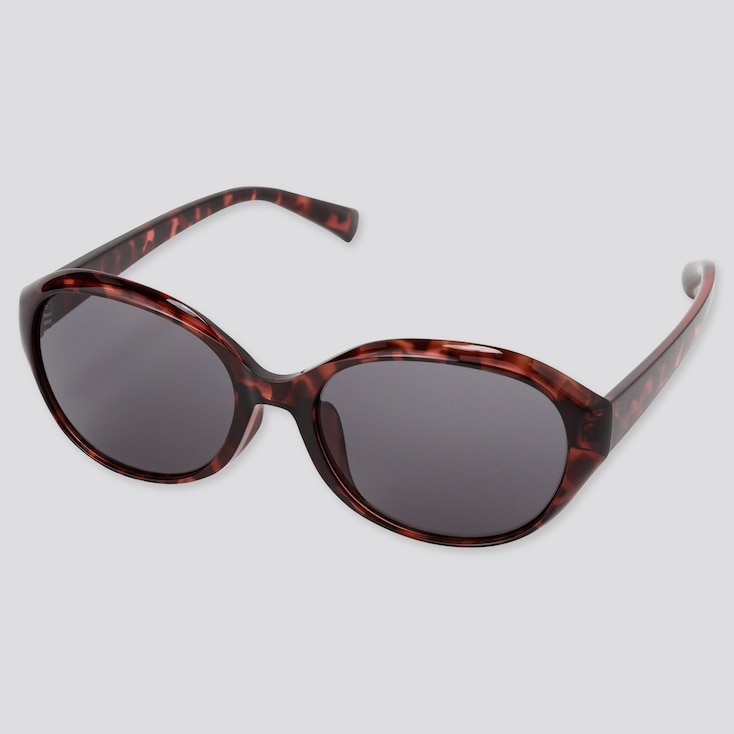 Oval Sunglasses, Brown, Large