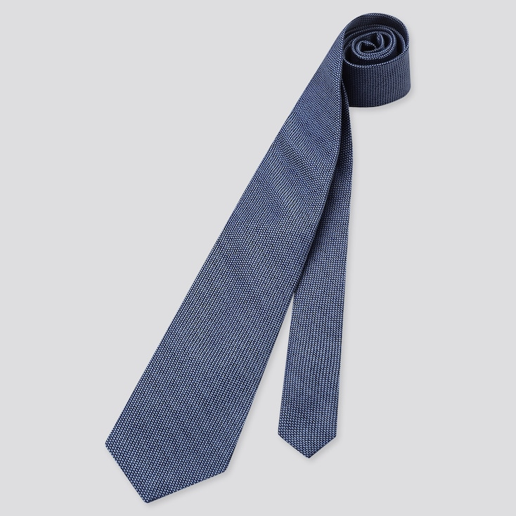 Men Silk Tie, Blue, Large