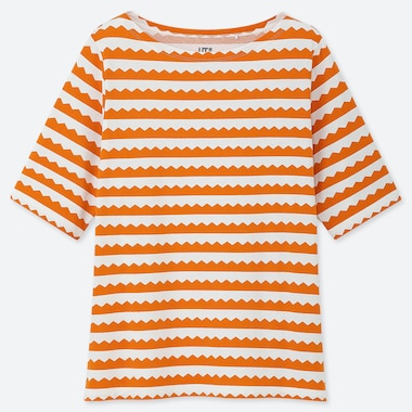 WOMEN Scandinavian UT (SHORT-SLEEVE GRAPHIC T-SHIRT), ORANGE, medium
