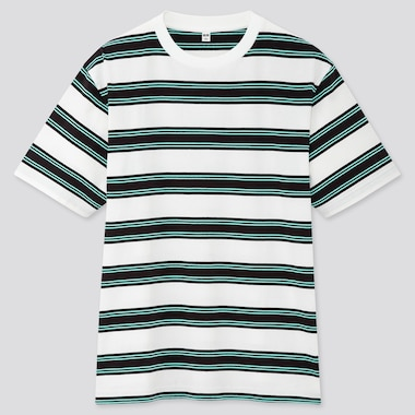 Men Striped Short-Sleeve T-Shirt (Online Exclusive), White, Medium