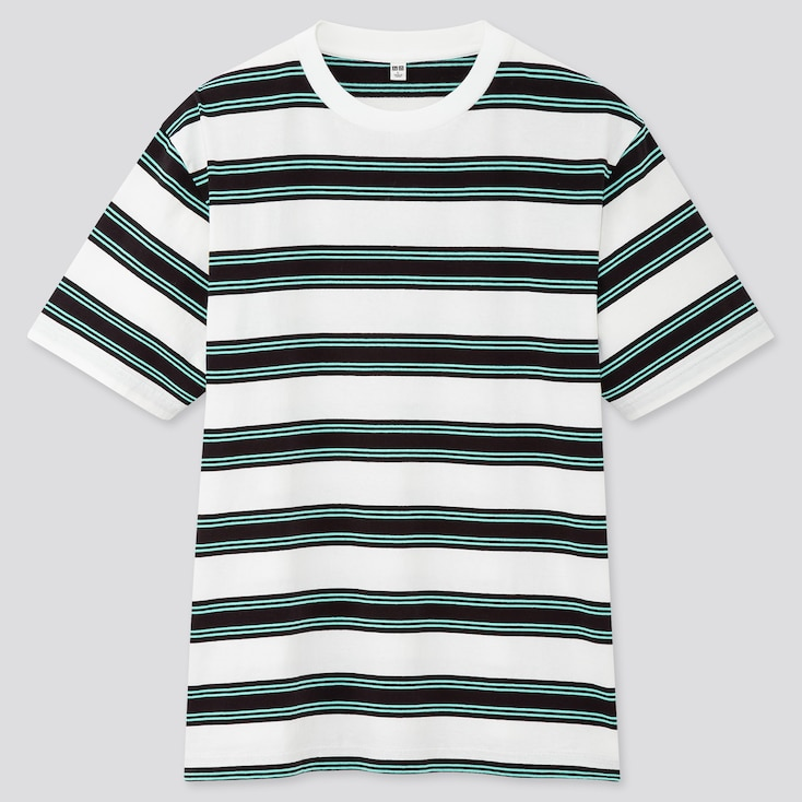 Men Striped Short-Sleeve T-Shirt (Online Exclusive), White, Large