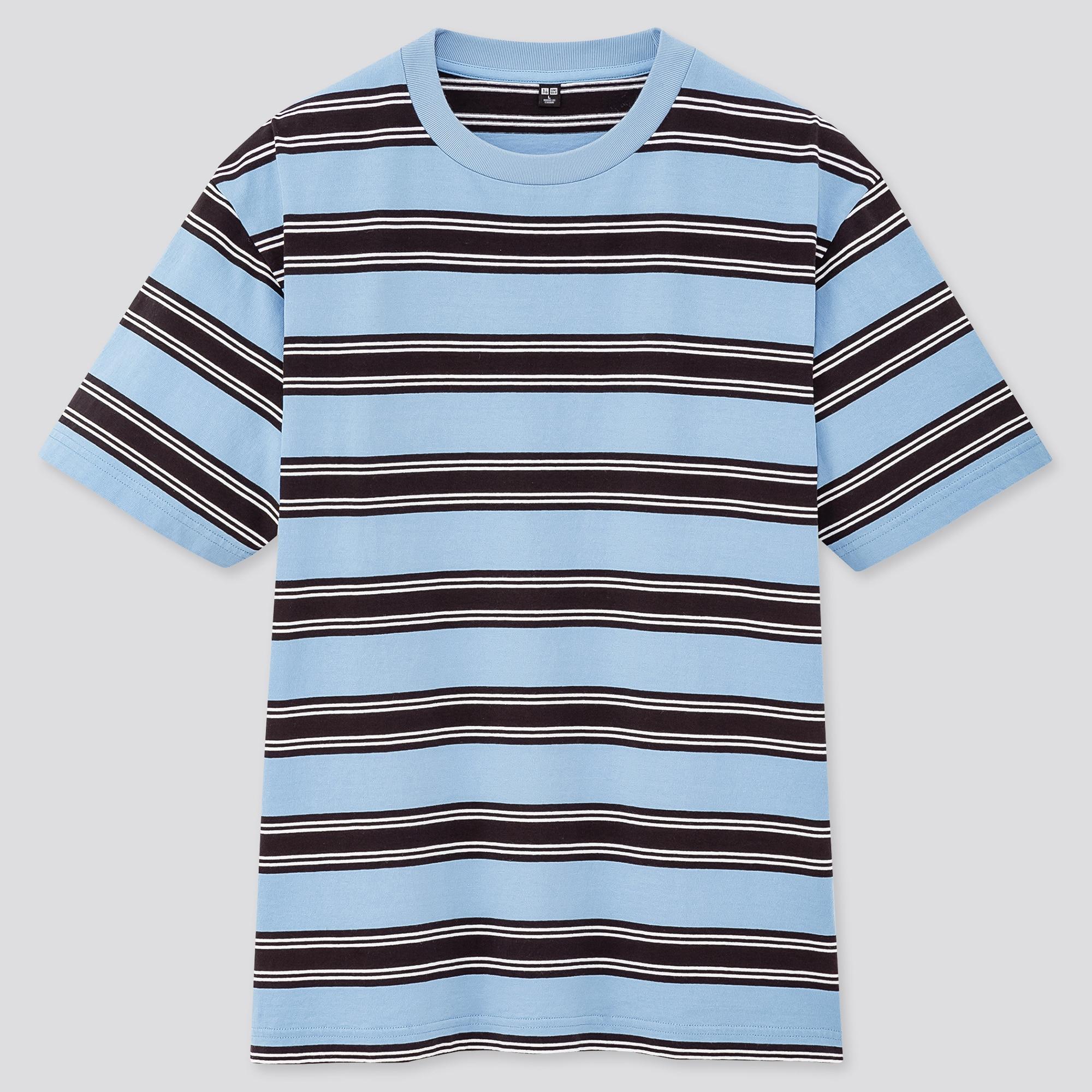 Uniqlo men striped short-sleeve t-shirt (online exclusive)