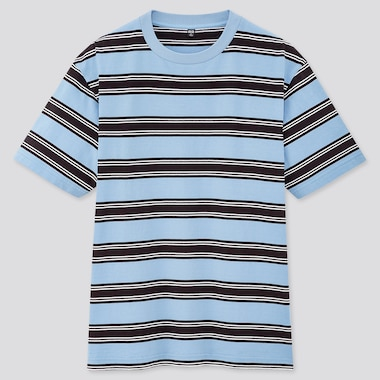 Men Striped Short-Sleeve T-Shirt (Online Exclusive), Blue, Medium