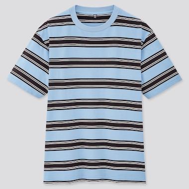 T-Shirt Rayé Manches Courtes Homme