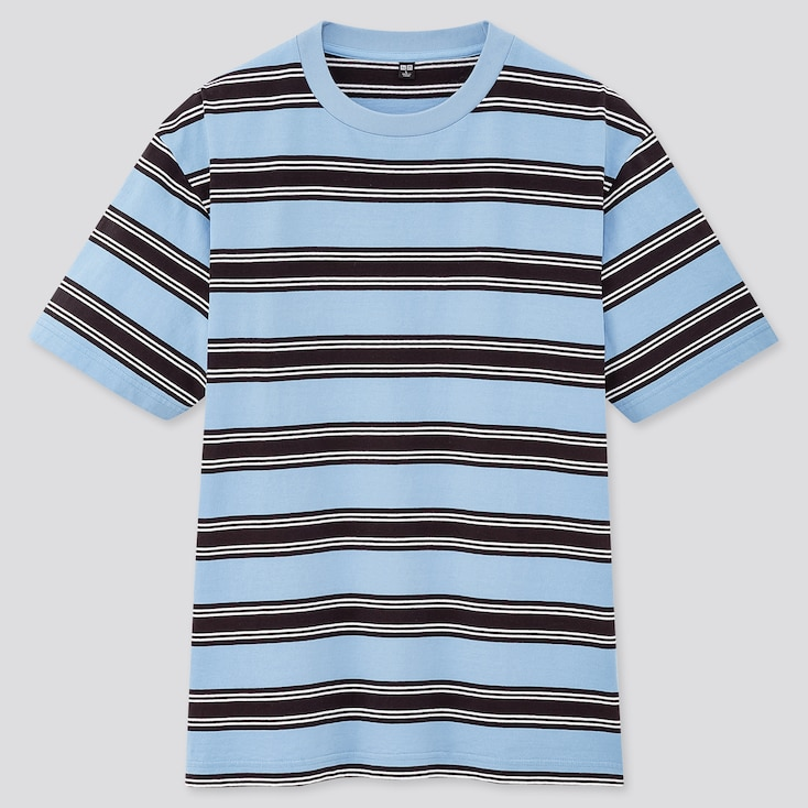 Men Striped Short-Sleeve T-Shirt (Online Exclusive), Blue, Large