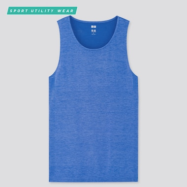 Men Dry-Ex Tank Top, Blue, Medium