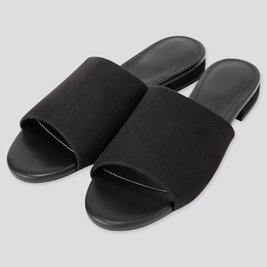 WOMEN OPEN TOE FLAT MULES