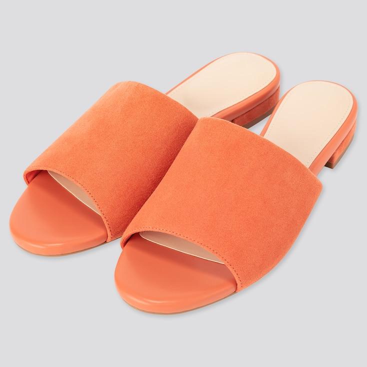 Women Open-Toe Mules, Orange, Large