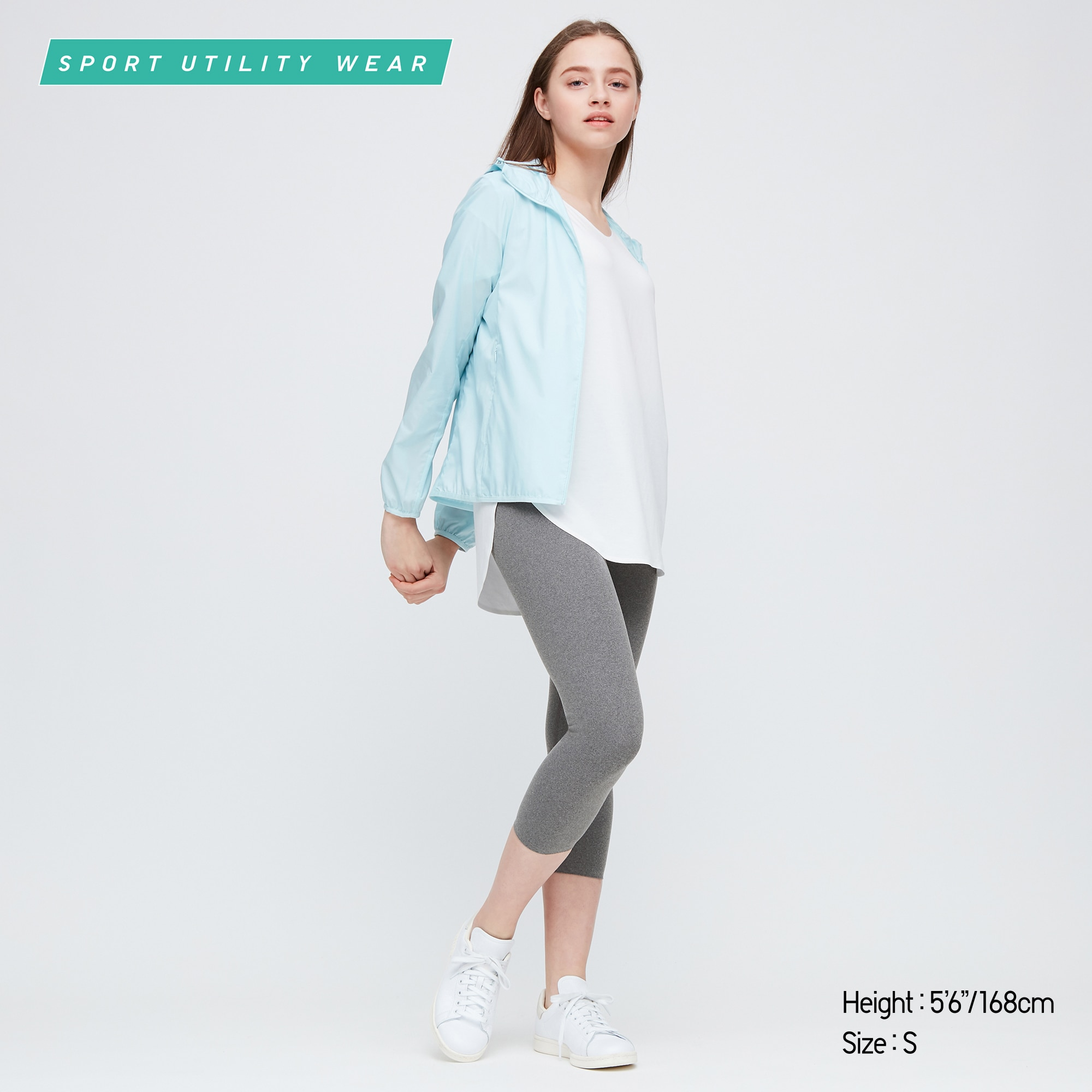 Women Airism Uv Protection Soft Cropped Leggings Uniqlo Us