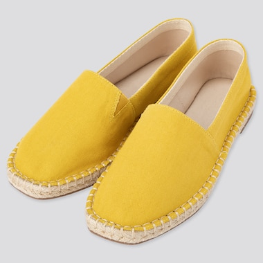 Women Espadrilles, Yellow, Medium