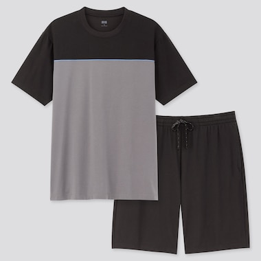 Men AIRism Short Sleeved Set