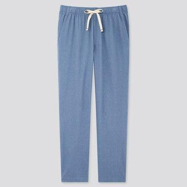 Men Jersey Relaxed Pants, Blue, Medium