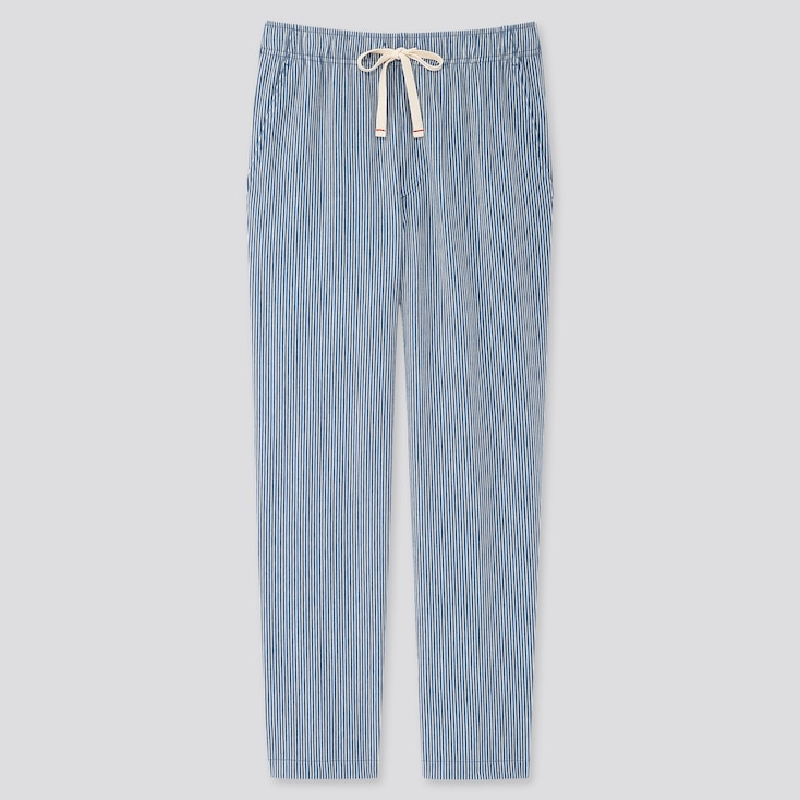 Men Jersey Relaxed Pants, Blue, Large