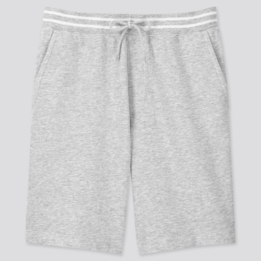 Men Jersey Easy Shorts, Gray, Medium