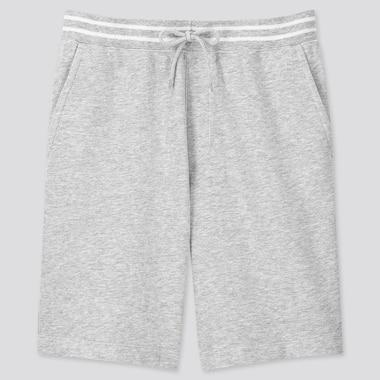 Men Jersey Easy Shorts, Gray, Medium