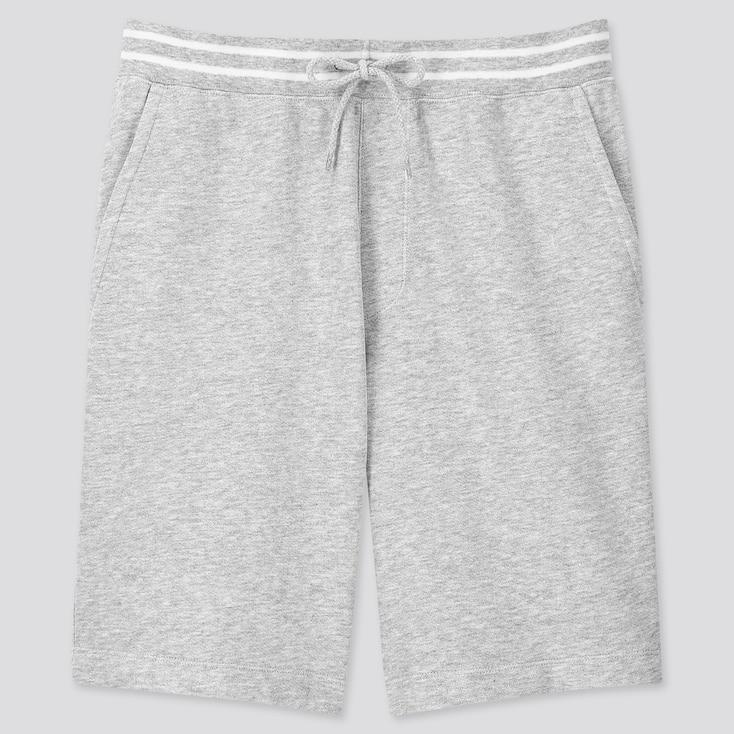 Men Jersey Easy Shorts, Gray, Large