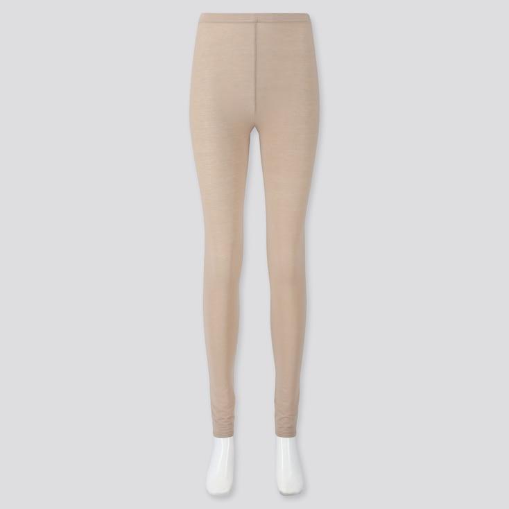 Women Soft Touch Extended Length Leggings, Beige, Large