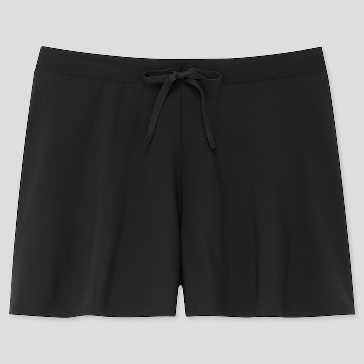 Women Beach Flare Short Pants (Online Exclusive), Black, Large