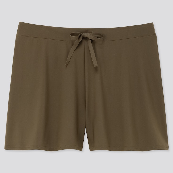 Women Beach Flare Short Pants (Online Exclusive), Olive, Large