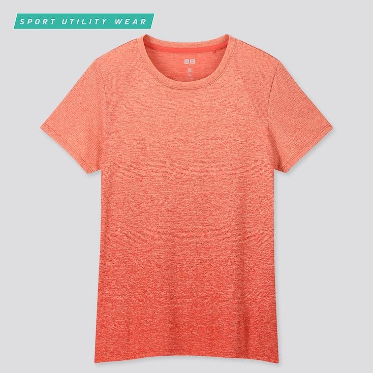 Women Dry-Ex Crew Neck Short-Sleeve T-Shirt, Red, Large