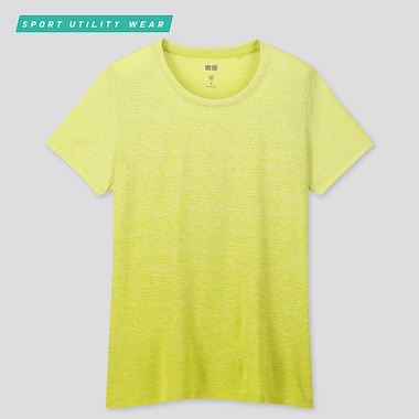 Women Dry-Ex Crew Neck Short-Sleeve T-Shirt, Green, Medium