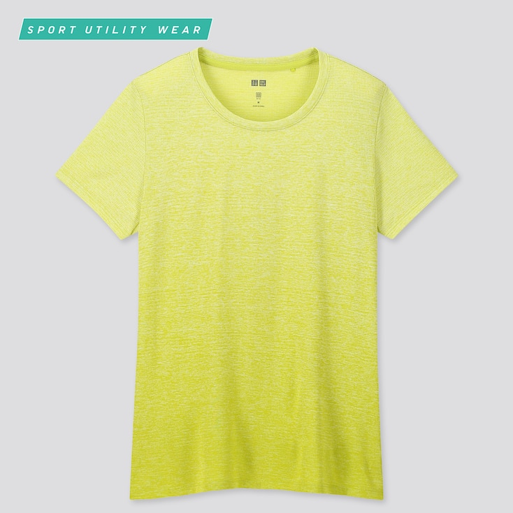 Women Dry-Ex Crew Neck Short-Sleeve T-Shirt, Green, Large