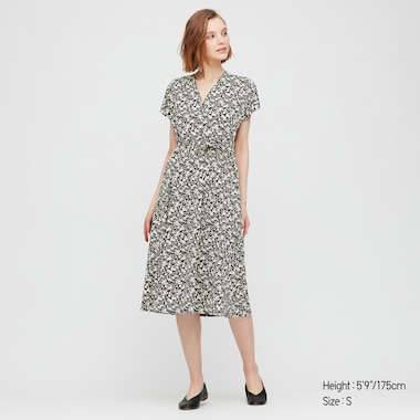 Women Joy of Print Crepe Jersey Wrap Dress
