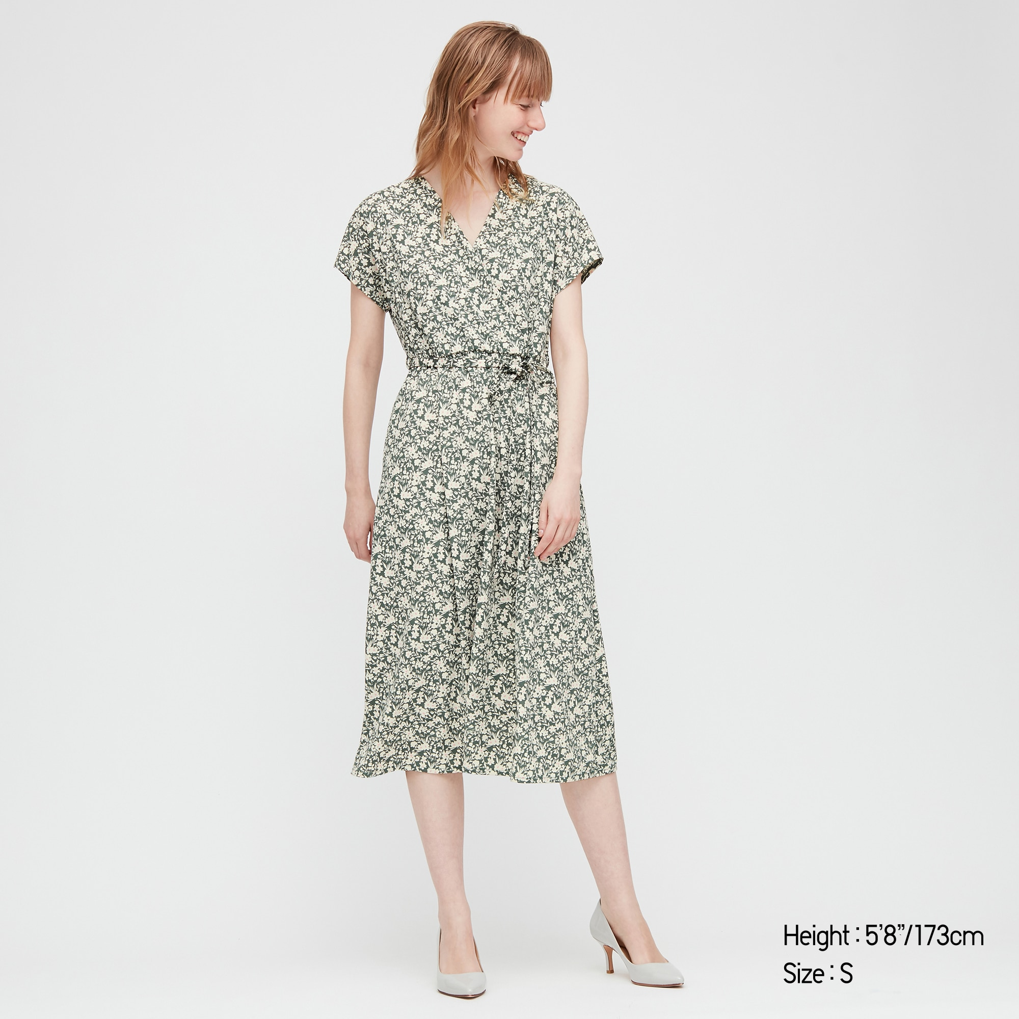 WOMEN JOY OF PRINT CREPE JERSEY WRAP DRESS