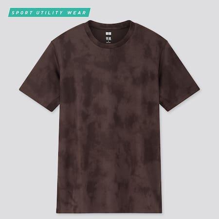 Men DRY-EX Printed Crew Neck Short Sleeved T-Shirt