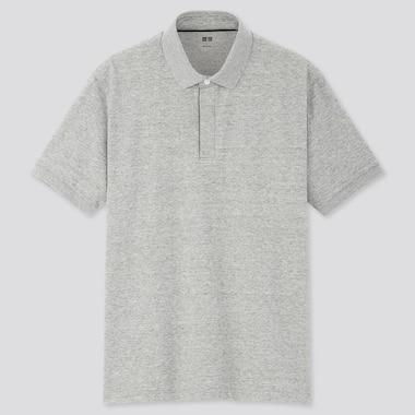Men Dry Pique Designed Polo Shirt, Gray, Medium
