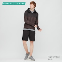 Uniqlo Mens Dry-Ex UV Protection Printed Full-Zip Hoodie
