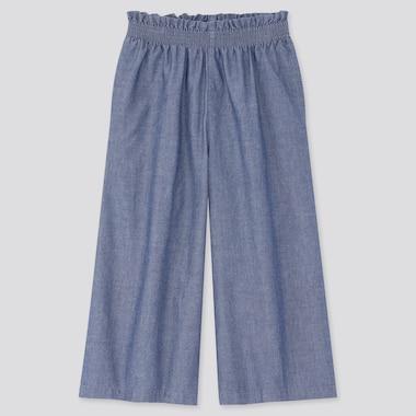Pantalon Batiste Coupe Large 3/4 Fille