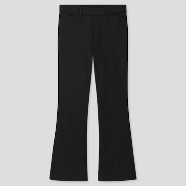 WOMEN FLARE ANKLE PANTS (ONLINE EXCLUSIVE), BLACK, medium