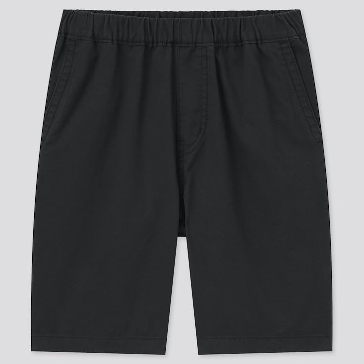 Kids Twill Easy Shorts, Black, Large