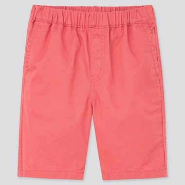 Kids Twill Easy Shorts, Red, Medium