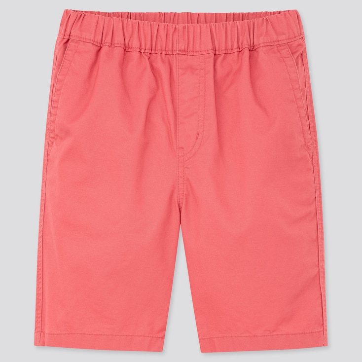 Kids Twill Easy Shorts, Red, Large
