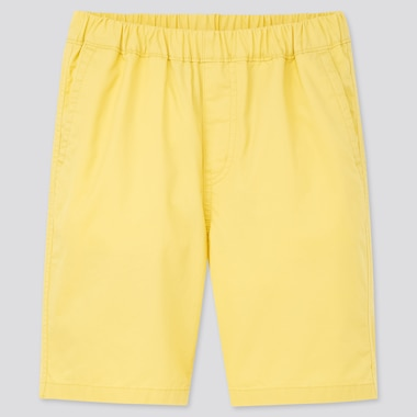 Kids Twill Easy Shorts, Yellow, Medium