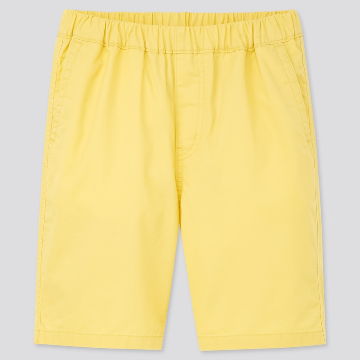 Kids Twill Easy Shorts, Yellow, Large