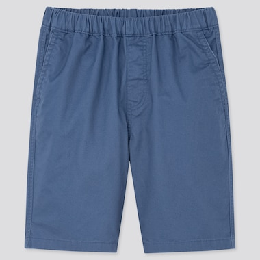 Kids Twill Easy Shorts, Blue, Medium