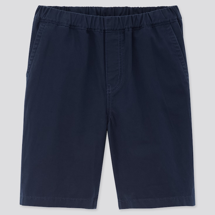 Kids Twill Easy Shorts, Navy, Large