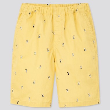Kids Easy Shorts, Yellow, Medium