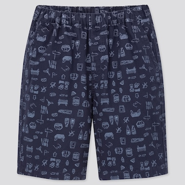 Kids Easy Shorts, Navy, Medium